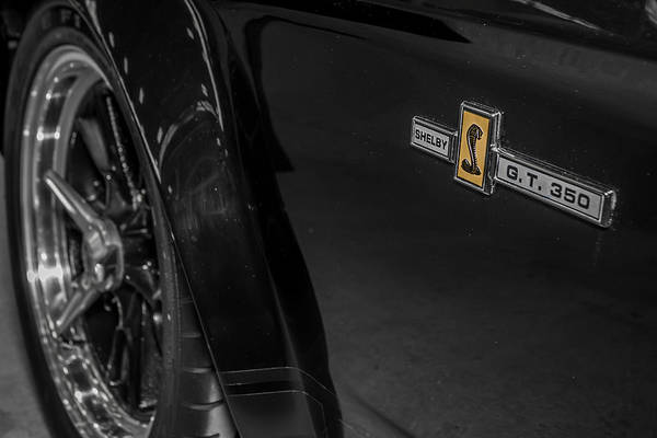 Photograph - 1965 Ford Mustang Shelby Gt 350 Emblem by Ron Pate