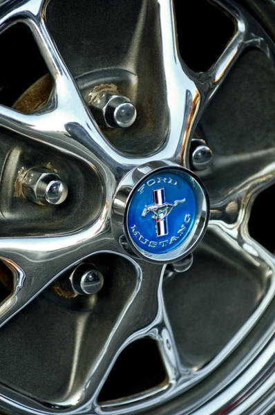 Photograph - 1965 Ford Mustang Wheel Rim by Jill Reger
