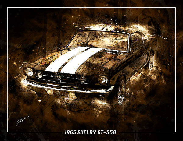 Wall Art - Digital Art - 1965 Ford Shelby Mustang Gto-350 #5 by Gary Bodnar