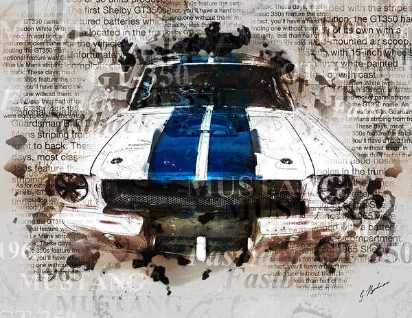 Wall Art - Digital Art - 1965 Ford Shelby Mustang Gto-350 II by Gary Bodnar