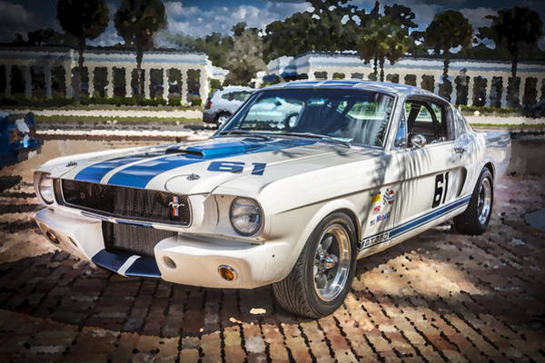 Street Racer Photograph - 1965 Ford Shelby Mustang  by Rich Franco