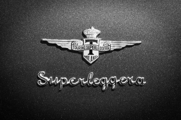 Photograph - 1965 Lamborghini 350 Gt Emblem -0722bw by Jill Reger