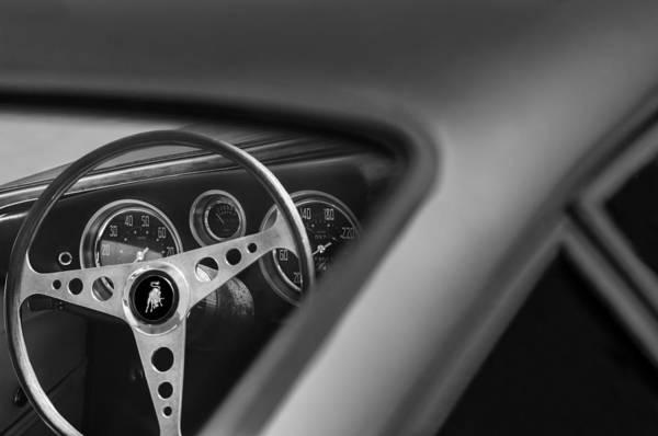 Photograph - 1965 Lamborghini 350 Gt Steering Wheel Emblem by Jill Reger