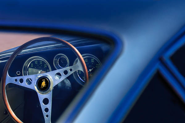 Photograph - 1965 Lamborghini 350 Gt Steering Wheel by Jill Reger
