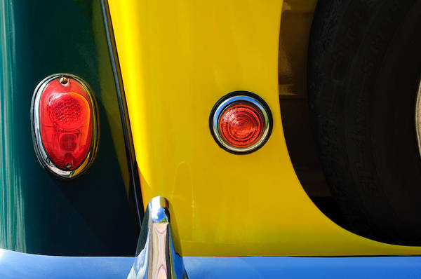 Photograph - 1965 Morgan Plus 4 Taillights by Jill Reger