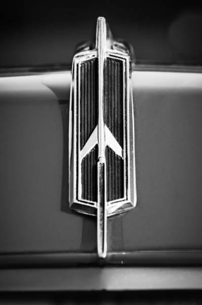 Oldsmobile 442 Wall Art - Photograph - 1965 Oldsmobile 442 Hood Emblem -0096bw by Jill Reger