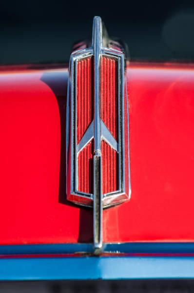 Oldsmobile 442 Wall Art - Photograph - 1965 Oldsmobile 442 Hood Emblem -0096c by Jill Reger