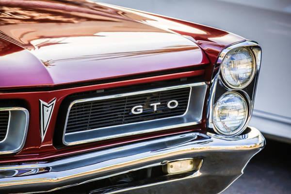 Photograph - 1965 Pontiac Gto Grille Emblem -0442c by Jill Reger