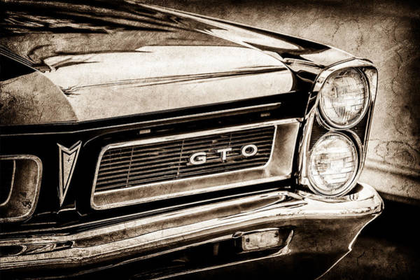 1965 Photograph - 1965 Pontiac Gto Grille Emblem -0442s by Jill Reger