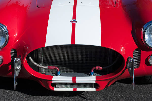 Photograph - 1965 Shelby Cobra Front Grille - Emblem by Jill Reger
