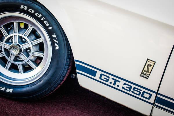 1965 Photograph - 1965 Shelby Gt350 Side Emblem by Jill Reger