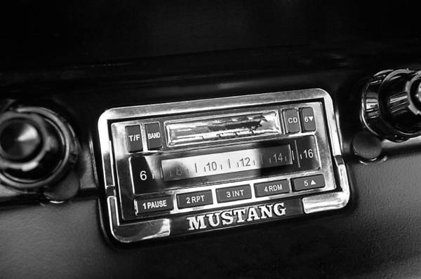 Prototype Photograph - 1965 Shelby Prototype Ford Mustang Radio by Jill Reger