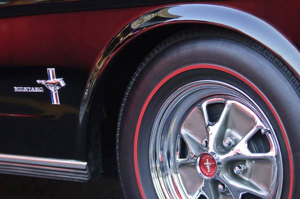 Photograph - 1965 Shelby Prototype Ford Mustang Wheel And Emblem by Jill Reger