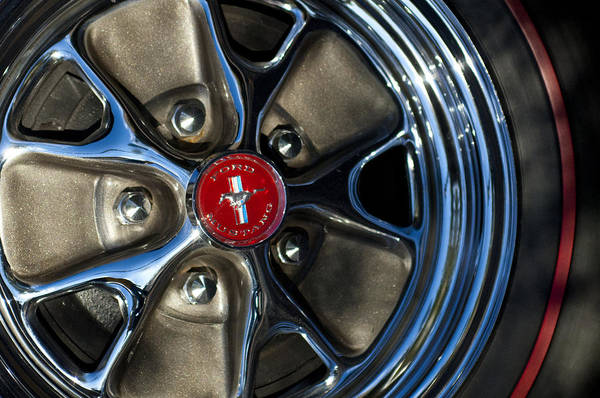 Photograph - 1965 Shelby Prototype Ford Mustang Wheel by Jill Reger
