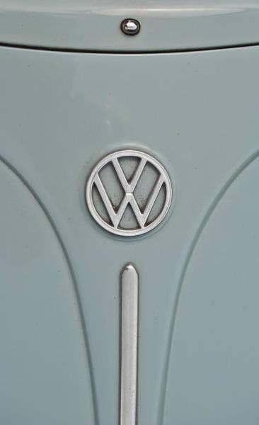 1965 Volkswagen Beetle Hood Emblem Art Print
