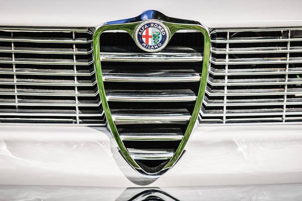 Photograph - 1966 Alfa Romeo Gtc Grille Emblem -1438c by Jill Reger