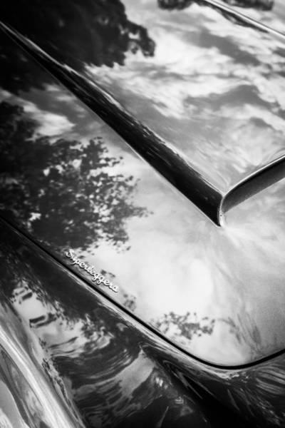 Photograph - 1966 Aston Martin Db6 Hood -0434bw by Jill Reger