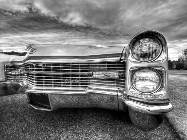 Photograph - 1966 Cadillac Grille And Headlights by Gill Billington