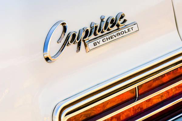 Photograph - 1966 Chevrolet Caprice Grille Emblem by Jill Reger