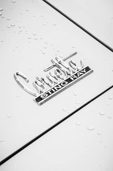 Photograph - 1966 Chevrolet Corvette Sting Ray Emblem -0042c by Jill Reger