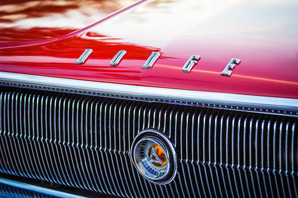1966 Photograph - 1966 Dodge Charger Grille Emblem by Jill Reger