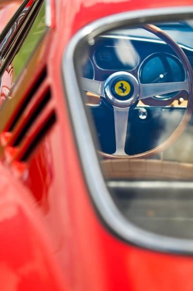 Photograph - 1966 Ferrari 275 Gtb Steering Wheel -0408c by Jill Reger