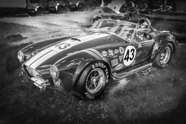 Ac Cobra Wall Art - Photograph - 1966 Ford Ac Cobra 427 Big Block Bw by Rich Franco