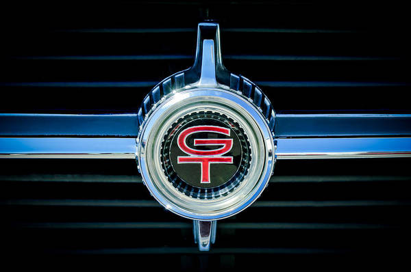 1966 Photograph - 1966 Ford Fairlane Gt Grille Emblem by Jill Reger