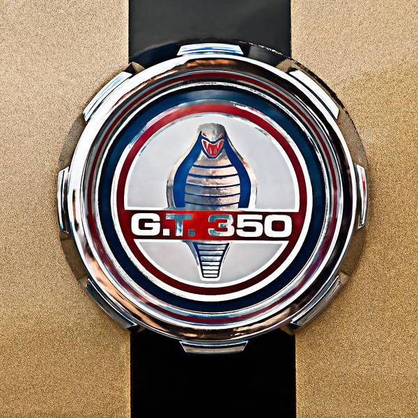 Photograph - 1966 Ford Mustang Convertible Gt 350 Cobra Emblem by Jill Reger
