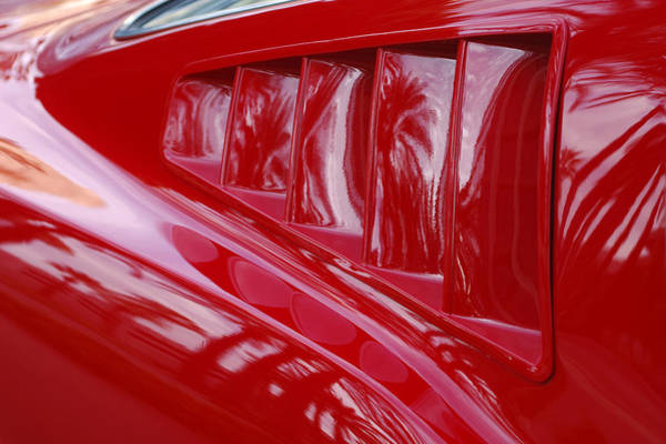 Photograph - 1966 Ford Mustang Gt Side Scoops -032c by Jill Reger