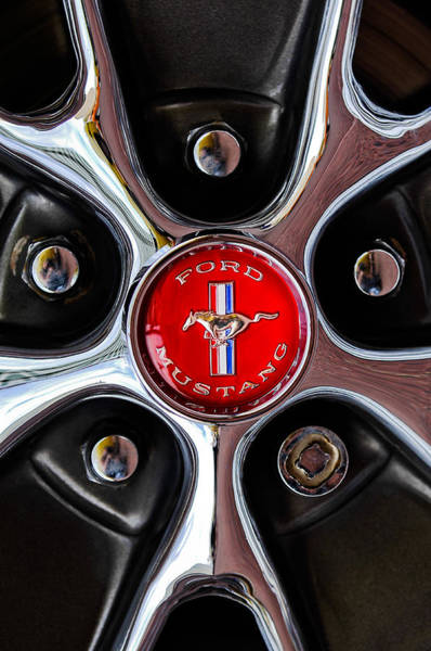 Photograph - 1966 Ford Mustang Gt Wheel Emblem by Jill Reger