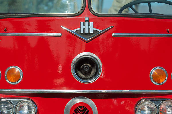 Photograph - 1966 International Harvester Pumping Ladder Fire Truck - 549 Ford Gas Motor by Jill Reger