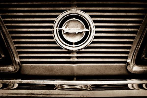 Photograph - 1966 Plymouth Barracuda - Cuda - Emblem by Jill Reger