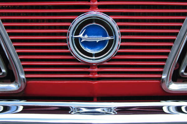 Plymouth Photograph - 1966 Plymouth Barracuda - Cuda Grille Emblem by Jill Reger