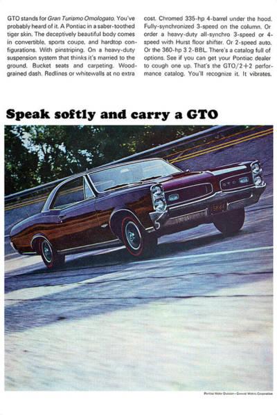 Spoken For Digital Art - 1966 Pontiac Gto by Digital Repro Depot