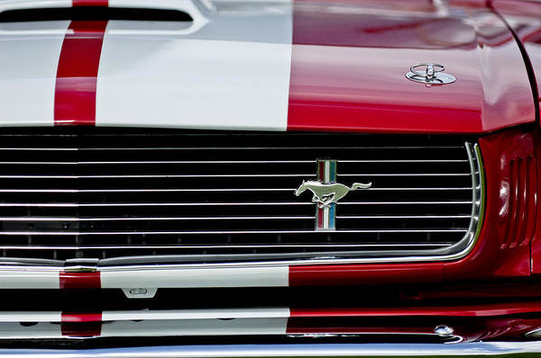 Photograph - 1966 Shelby Cobra Gt 350 Grille Emblem by Jill Reger