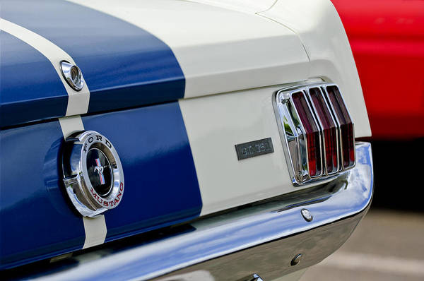 1966 Photograph - 1966 Shelby Gt 350 Taillight by Jill Reger