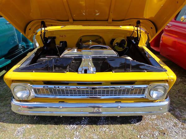 Photograph - 1966 Yellow Chevy Truck by Kathy K McClellan
