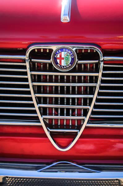 Photograph - 1967 Alfa Romeo Giulia Super Grille Emblem -0730c by Jill Reger