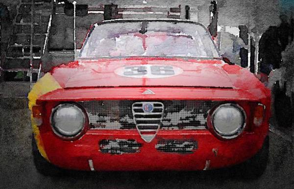 Wall Art - Painting - 1967 Alfa Romeo Gtv Watercolor by Naxart Studio