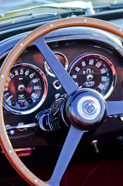 Photograph - 1967 Aston Martin Db6 Volante Steering Wheel 2 by Jill Reger