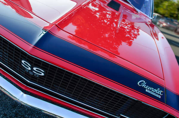 Photograph - 1967 Chevrolet Camaro Grille Emblem by Jill Reger