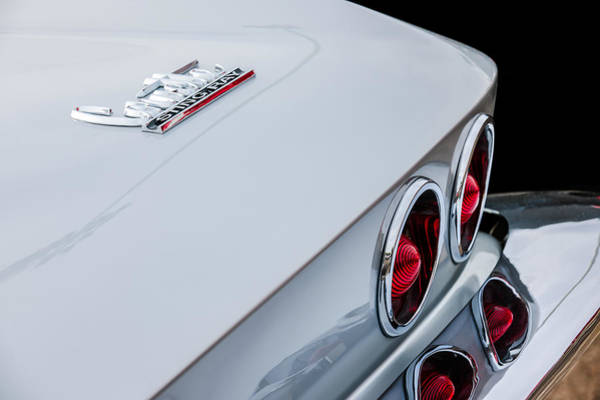 Photograph - 1967 Chevrolet Corvette Coupe Taillight Emblem by Jill Reger