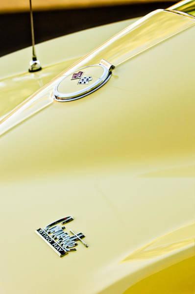 Photograph - 1967 Chevrolet Corvette Sport Coupe Emblem 2 by Jill Reger