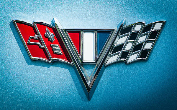 Malibu Photograph - 1967 Chevrolet Malibu Emblem by Jill Reger