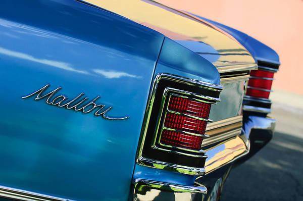 Malibu Photograph - 1967 Chevrolet Malibu Taillight Emblem by Jill Reger