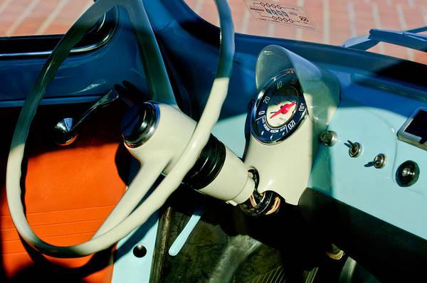 Photograph - 1967 Fiat 500f Steering Wheel by Jill Reger