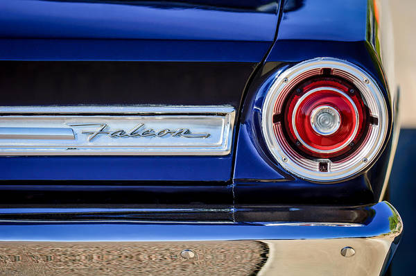 Falcons Photograph - 1967 Ford Falcon Taillight Emblem -473c by Jill Reger