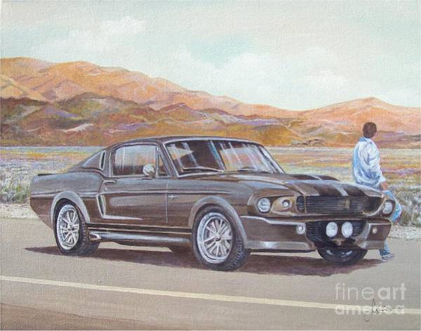 Painting - 1967 Ford Mustang Fastback by Sinisa Saratlic