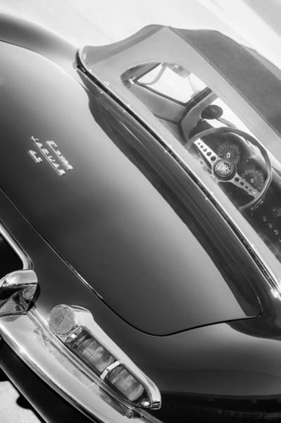 Photograph - 1967 Jaguar E-type Roadster Taillight -1228bw by Jill Reger